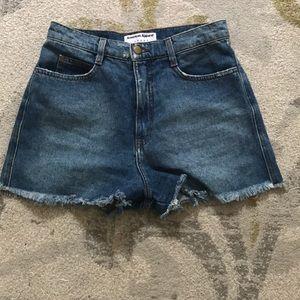 High Waisted American Apparel Denim Shorts